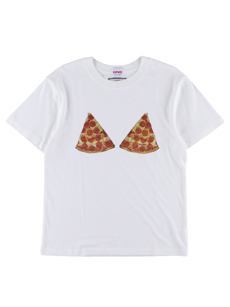 I&ME PIZZATEE for girls(オフホワイト-M)