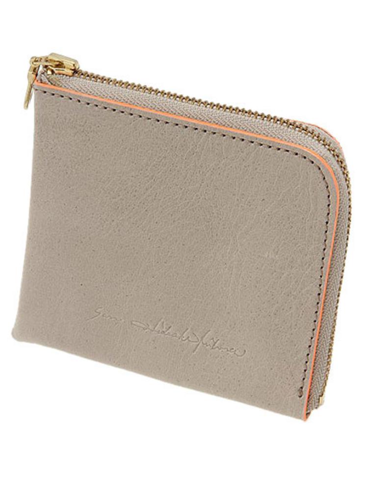 【SAN HIDEAKI MIHARA】カウレザーミニ財布(ホワイト-F)