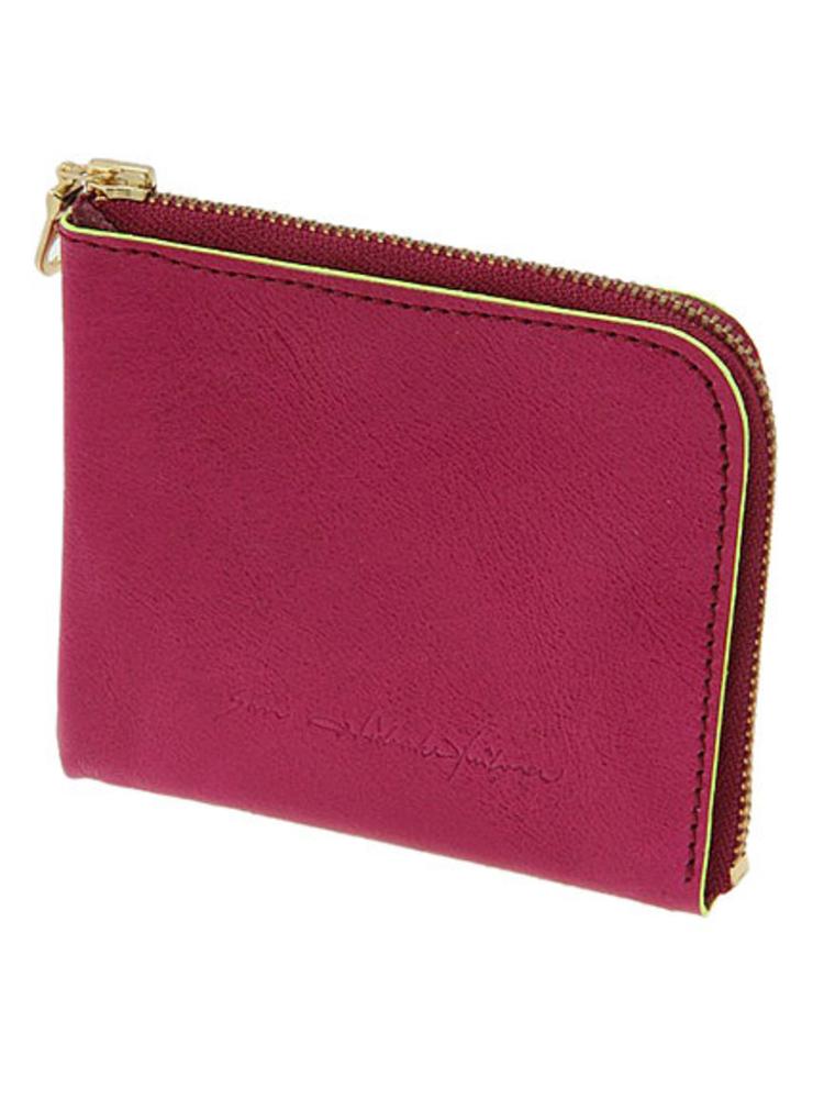 【SAN HIDEAKI MIHARA】カウレザーミニ財布(ピンク-F)