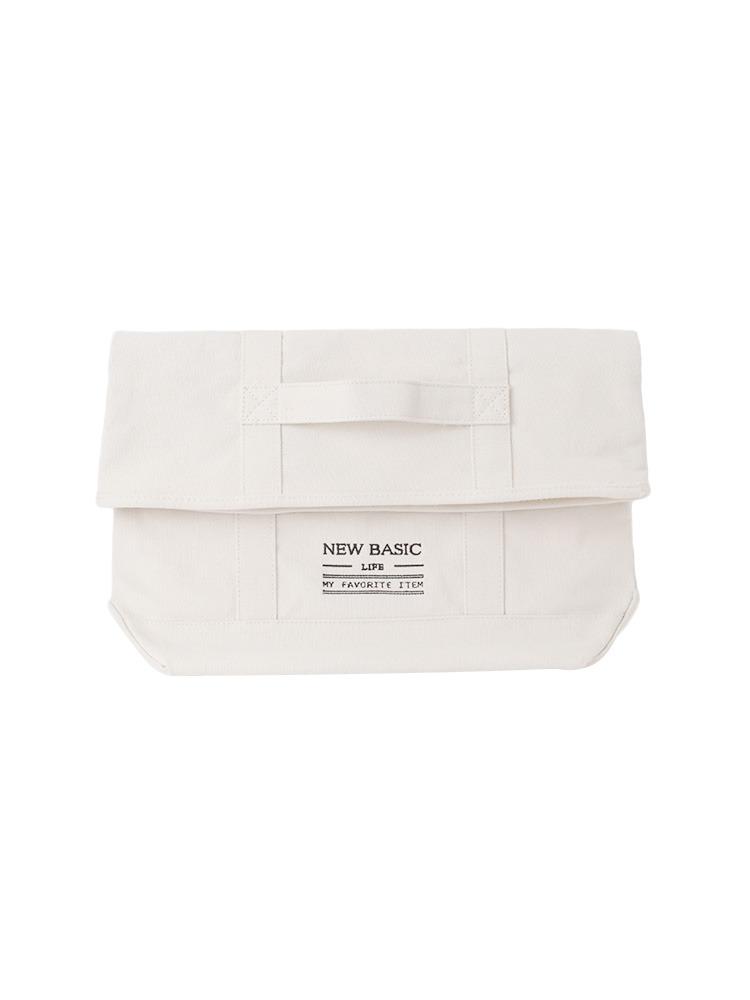 【CB】刺繍キャンバスクラッチ(ホワイト-F)