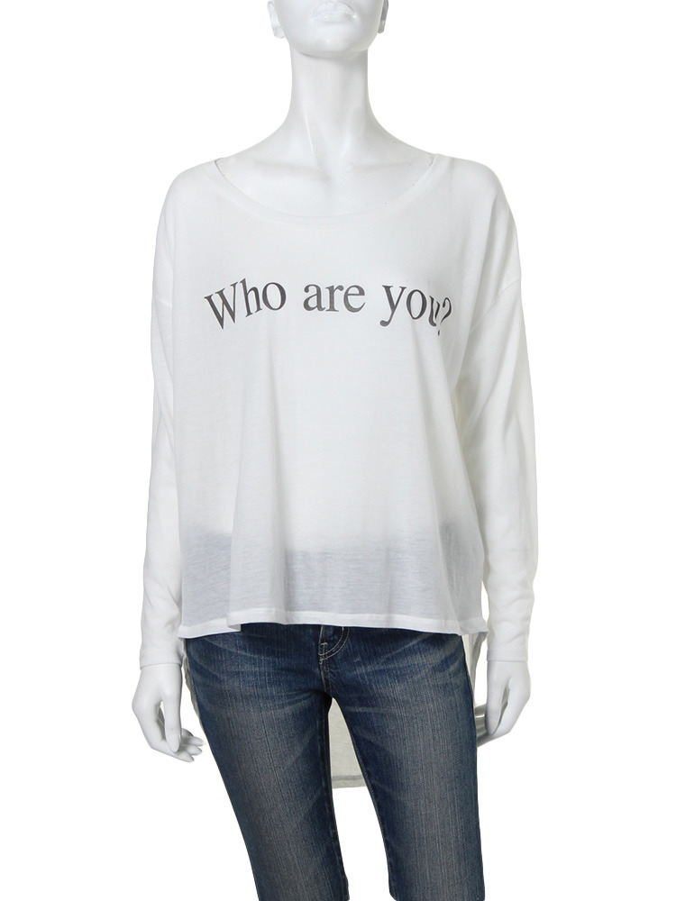 【Casual】Who are you?L/S Tee(オフホワイト-F)
