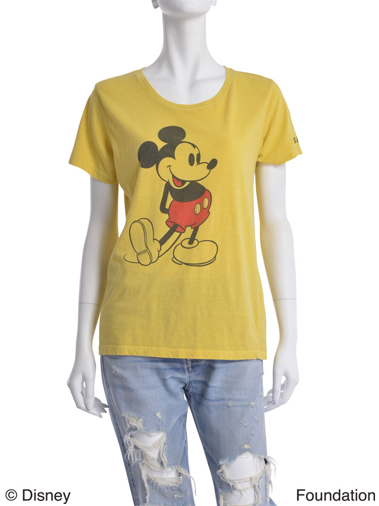 【Casual】ヴィンテージMickey Tee(イエロー-F)