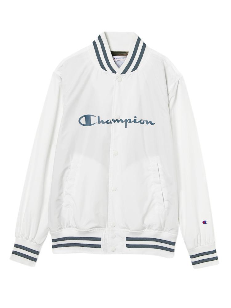 《ViVi,non-no 3月号掲載》【Casual】Championスナップブルゾン(ホワイト-F)
