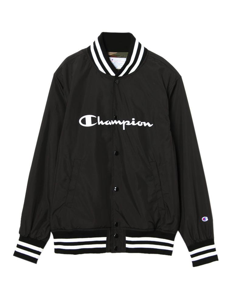 《ViVi,non-no 3月号掲載》【Casual】Championスナップブルゾン(ブラック-F)