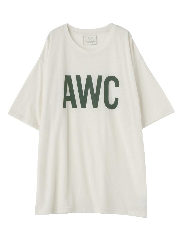 AWCプリントBIG Tシャツ(オフホワイト-F)