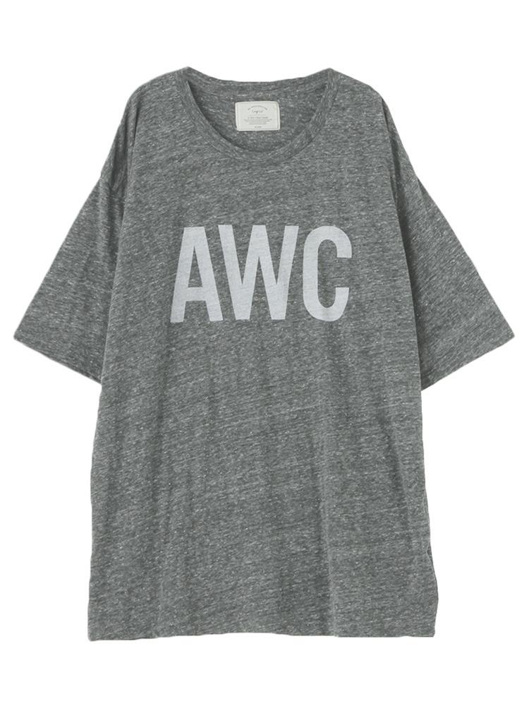 AWCプリントBIG Tシャツ(チャコールグレー-F)