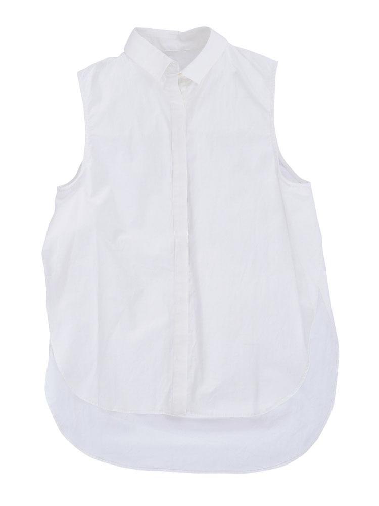 ノースリサイドクロスシャツ(オフホワイト-F)