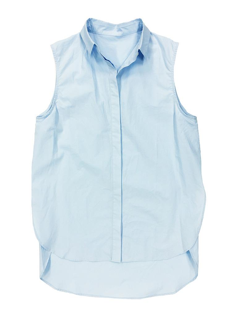 ノースリサイドクロスシャツ(ブルー-F)