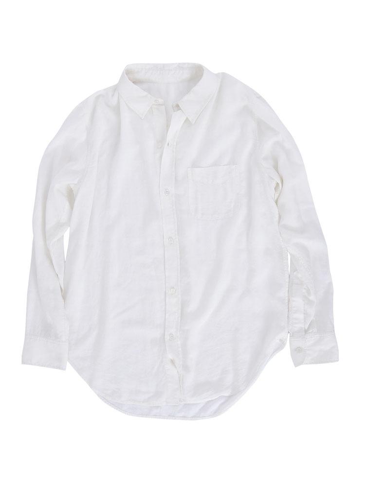 ルーズウォッシュシャツ(オフホワイト-F)