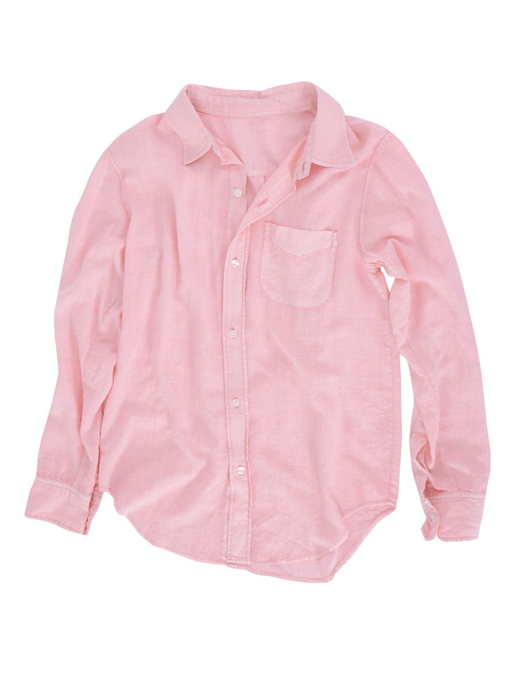 ルーズウォッシュシャツ(ピンク-F)