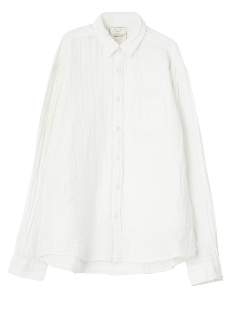 ガーゼビッグシャツ(オフホワイト-F)