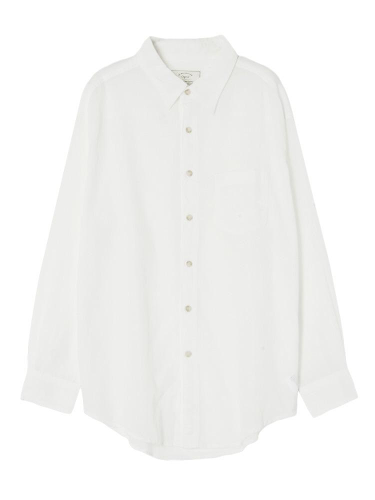 ソフトウォッシュカラーシャツ(オフホワイト-F)