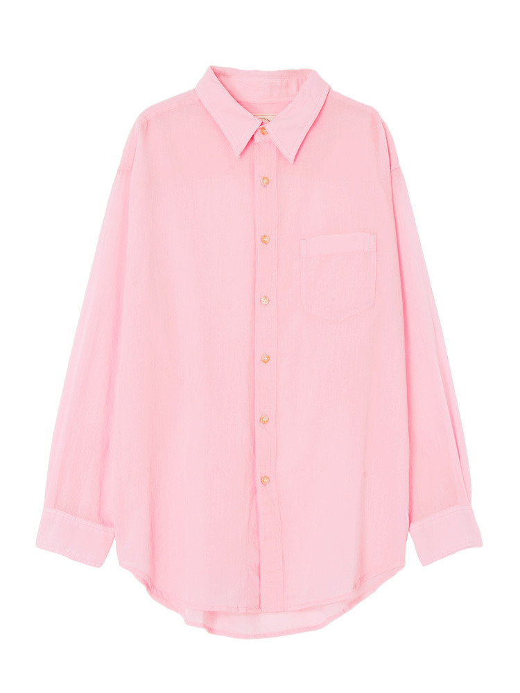 ソフトウォッシュカラーシャツ(ピンク-F)