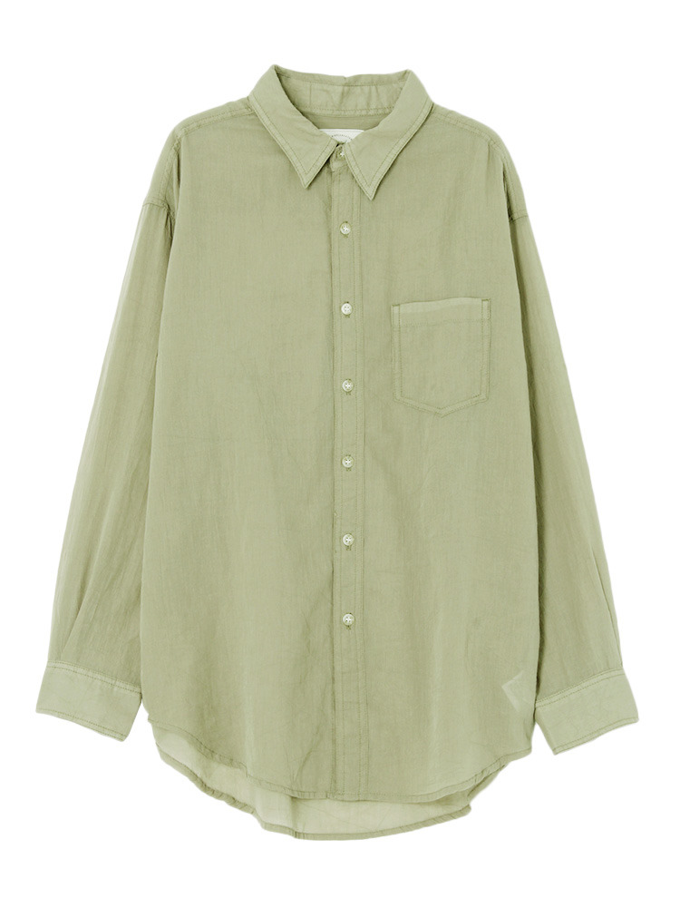 ソフトウォッシュカラーシャツ(カーキ-F)