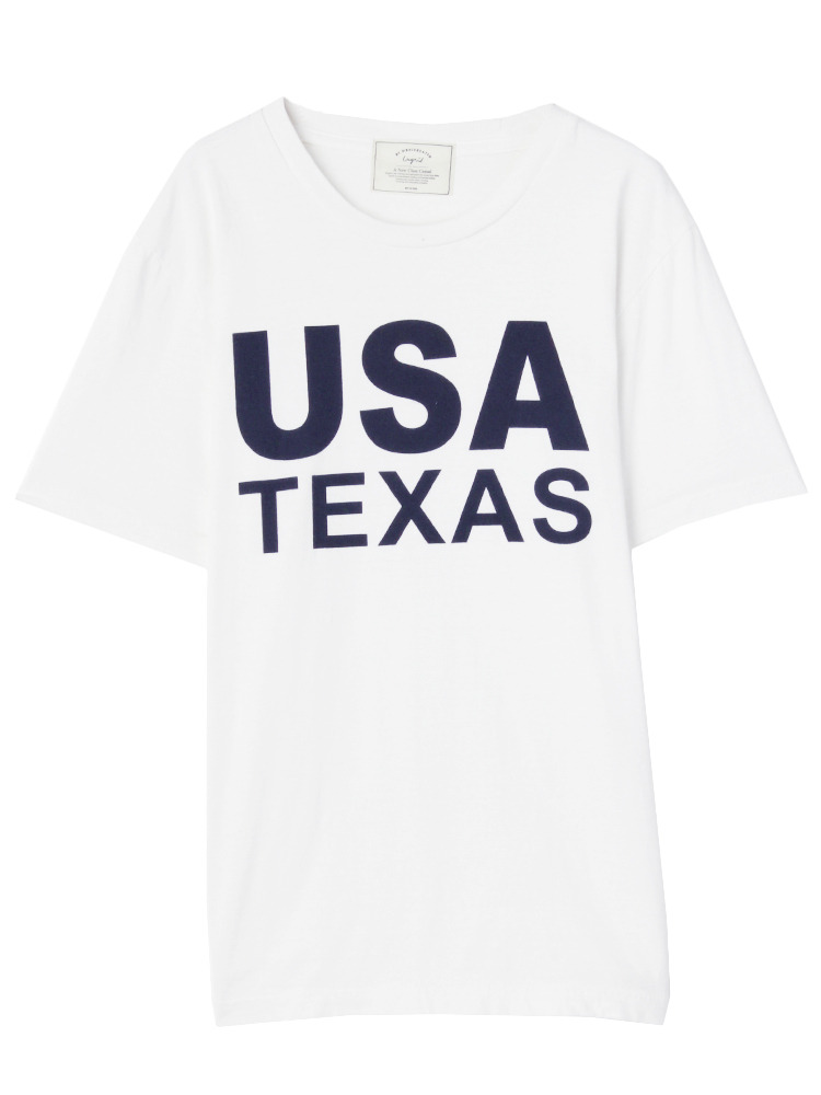 USA TEXAS Tee(ホワイト-F)
