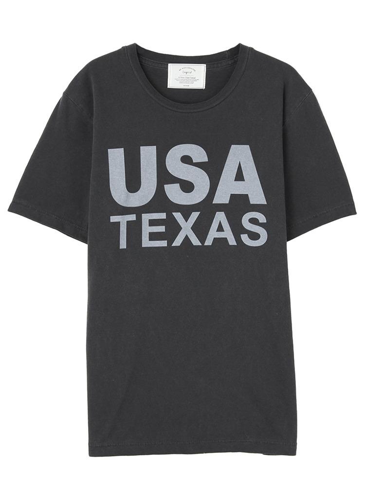 USA TEXAS Tee(ブラック-F)