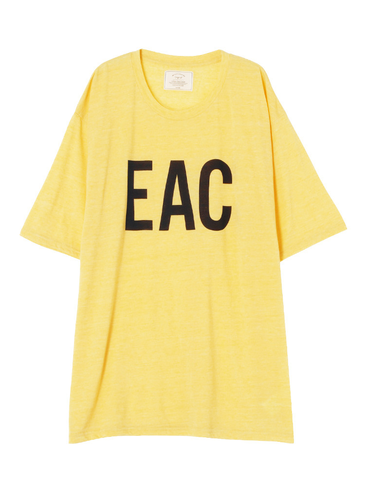 EACプリントBIG Tee(イエロー-F)