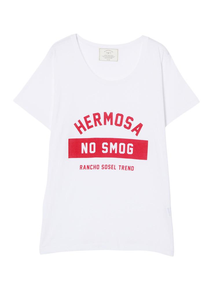 HERMOSAプリントTee(オフホワイト-F)