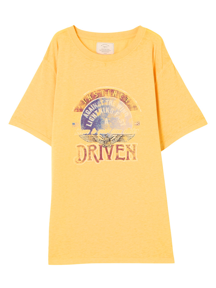 DRIVENウォッシュTee(イエロー-F)