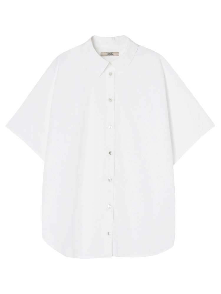 ボリュームシルエットハーフスリーブシャツ(オフホワイト-F)