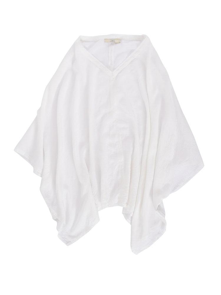 テンセルプルオーバーシャツ(オフホワイト-F)