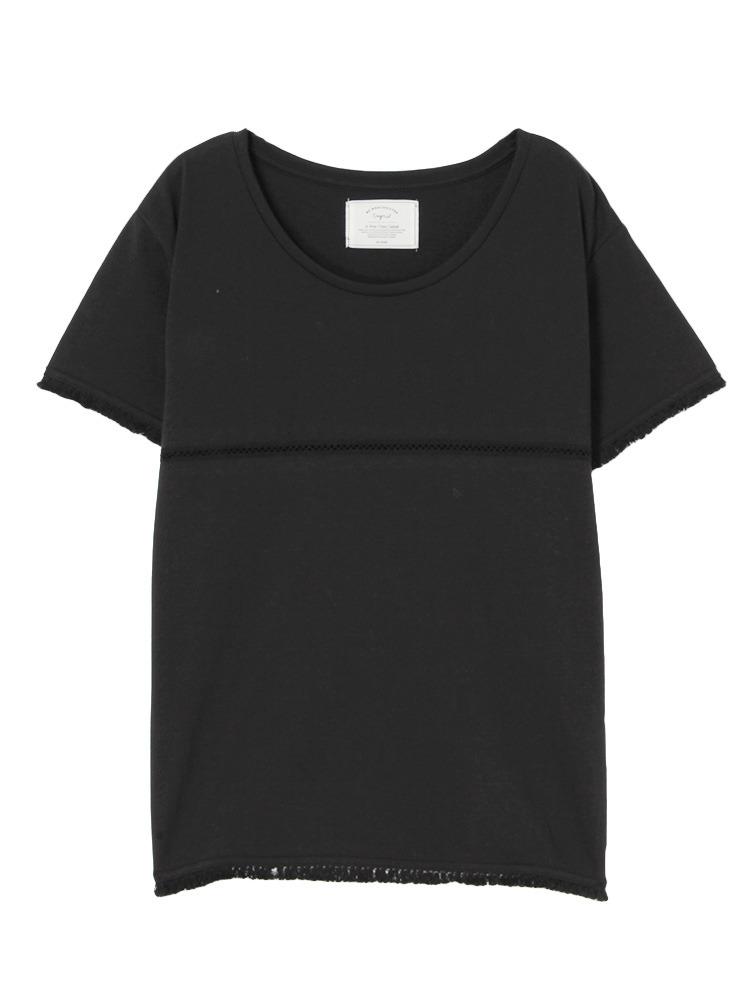 フリンジコンビTee(ブラック-F)