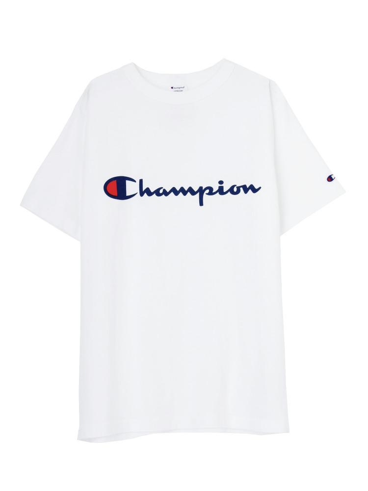 Champion別注ロゴTee(オフホワイト-F)