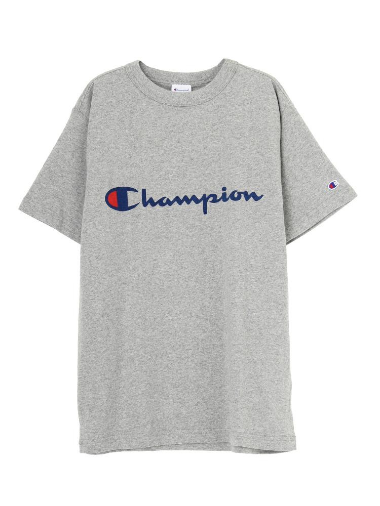Champion別注ロゴTee(グレー-F)