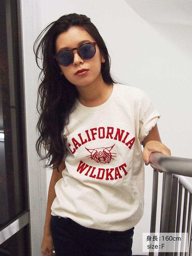 CALIFORNIA WILDKATプリントTee