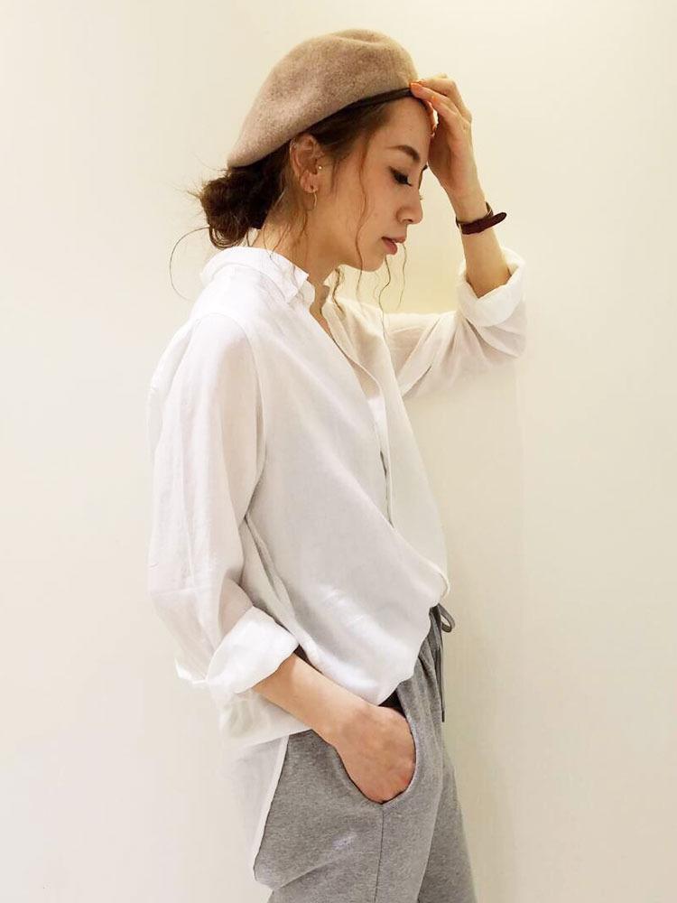 テンセルローンシャツ