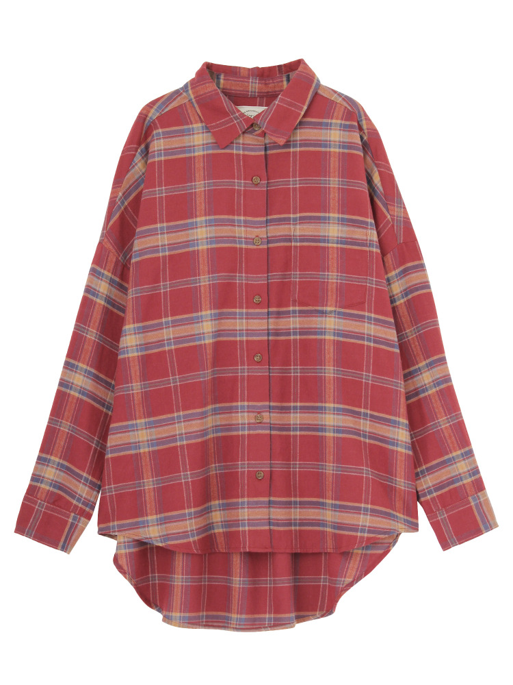 Ungridのルーズチェックシャツ