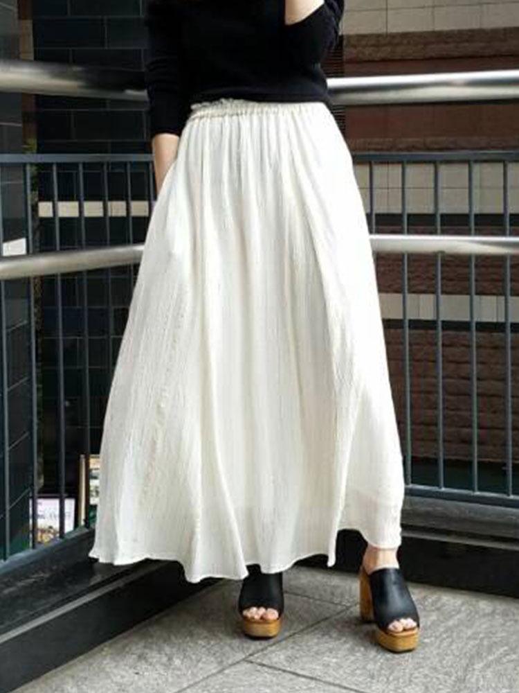 ルレックスストライプマキシスカート