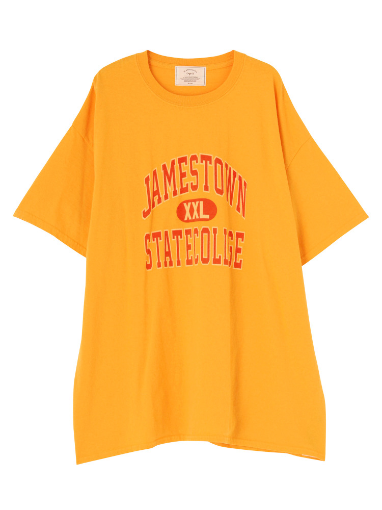 JAMESTOWNプリントビッグTee(イエロー-F)