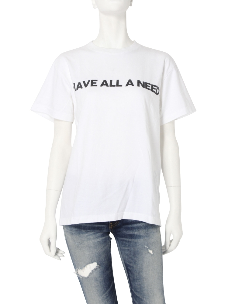 I HAVE ALL A NEED Tee(オフホワイト-F)