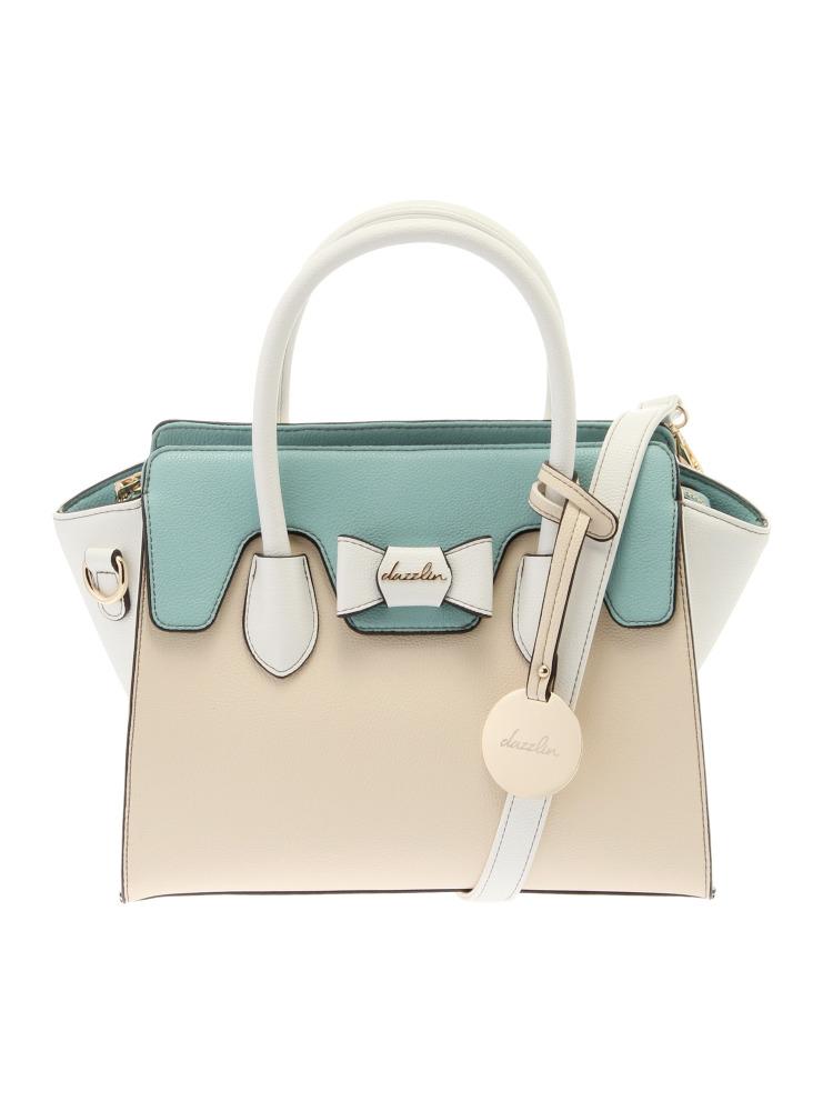 【dazzlin】リボンフラップハンドバッグ