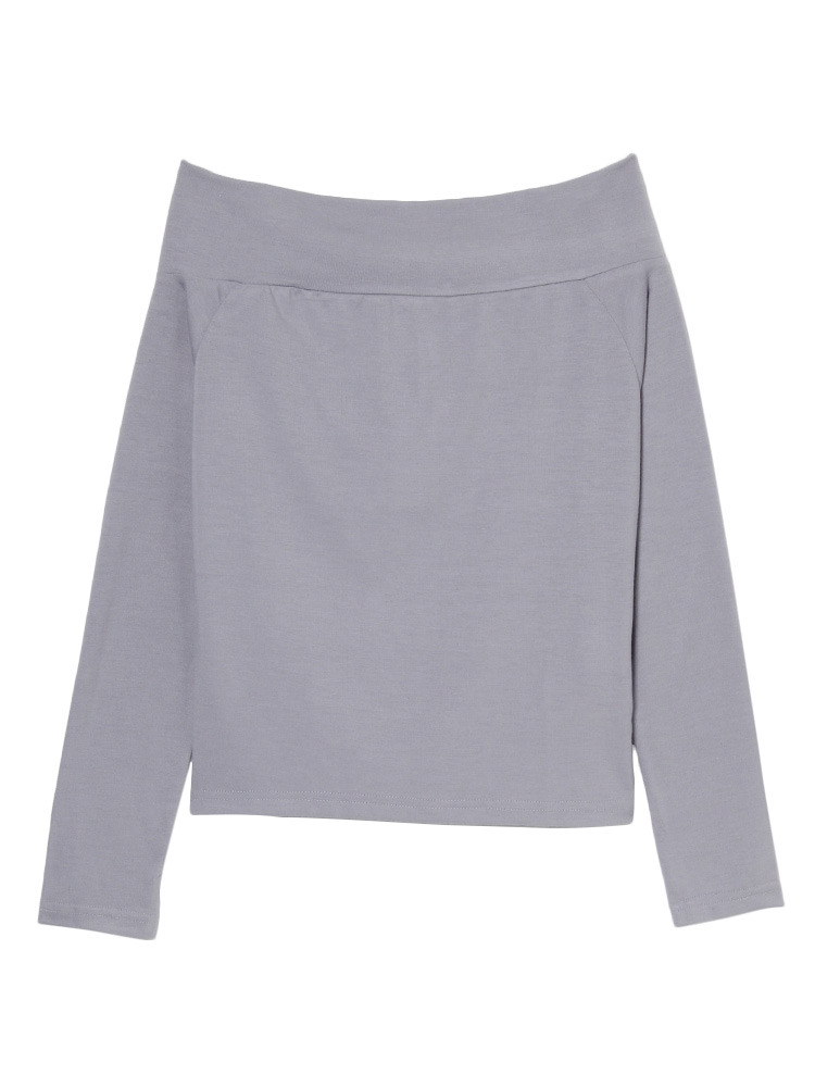simple offshoulder TOPS(グレー-F)