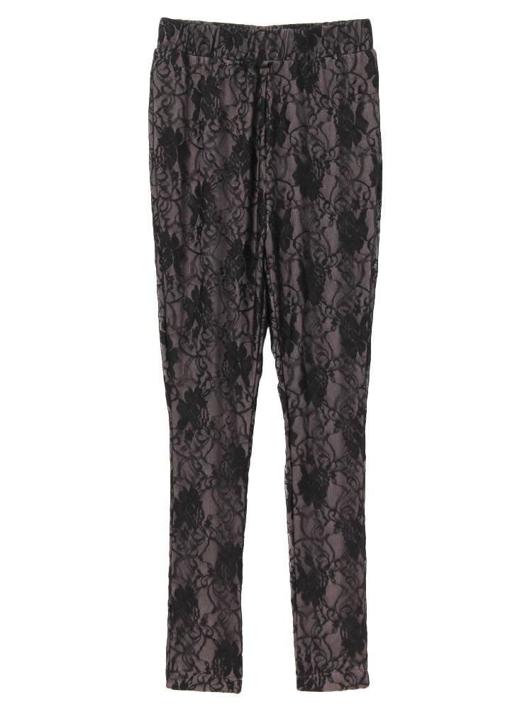 lace leggings(グレー-F)