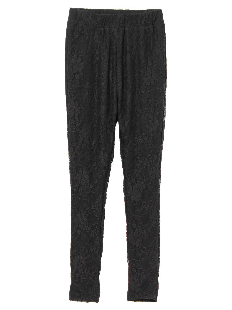 lace leggings(ブラック-F)