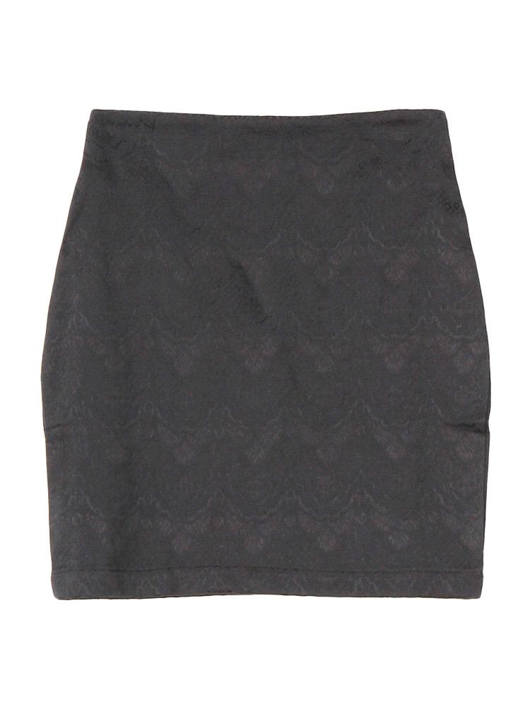 lace jacquard tight SK(ブラック-S)