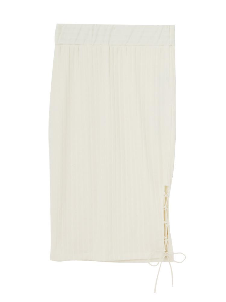 ポイントレースアップスカート(オフホワイト-F)