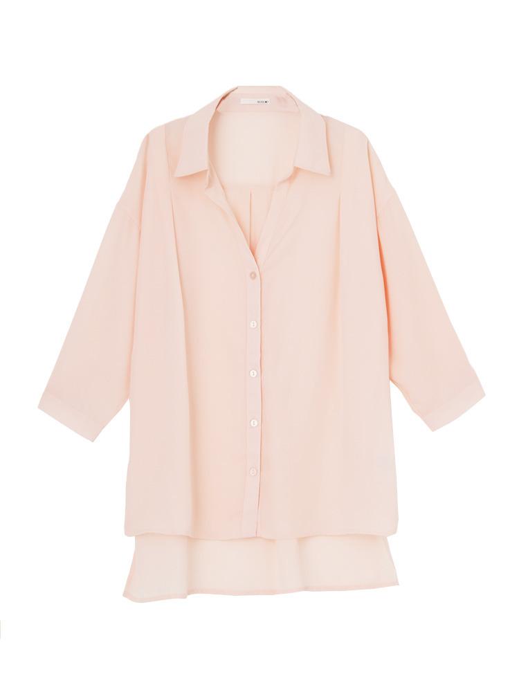 スキッパーシャツ(ピンク-F)
