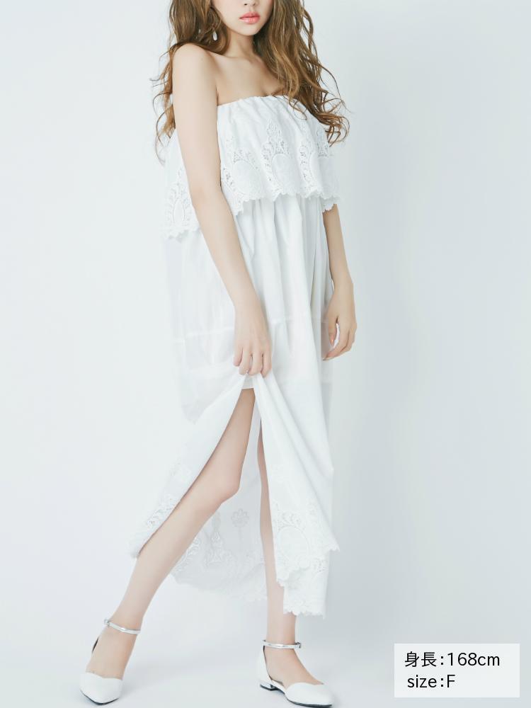 RESEXXYの裾刺繍サイドマキシワンピース