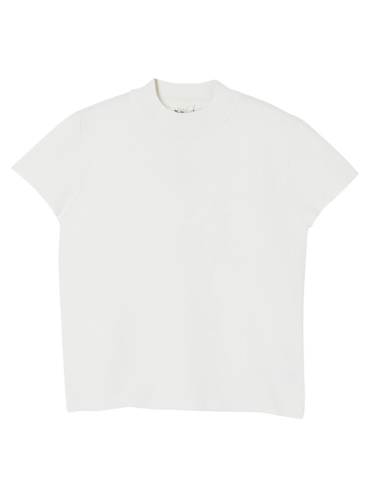 ミラノリブトップス(ホワイト-F)
