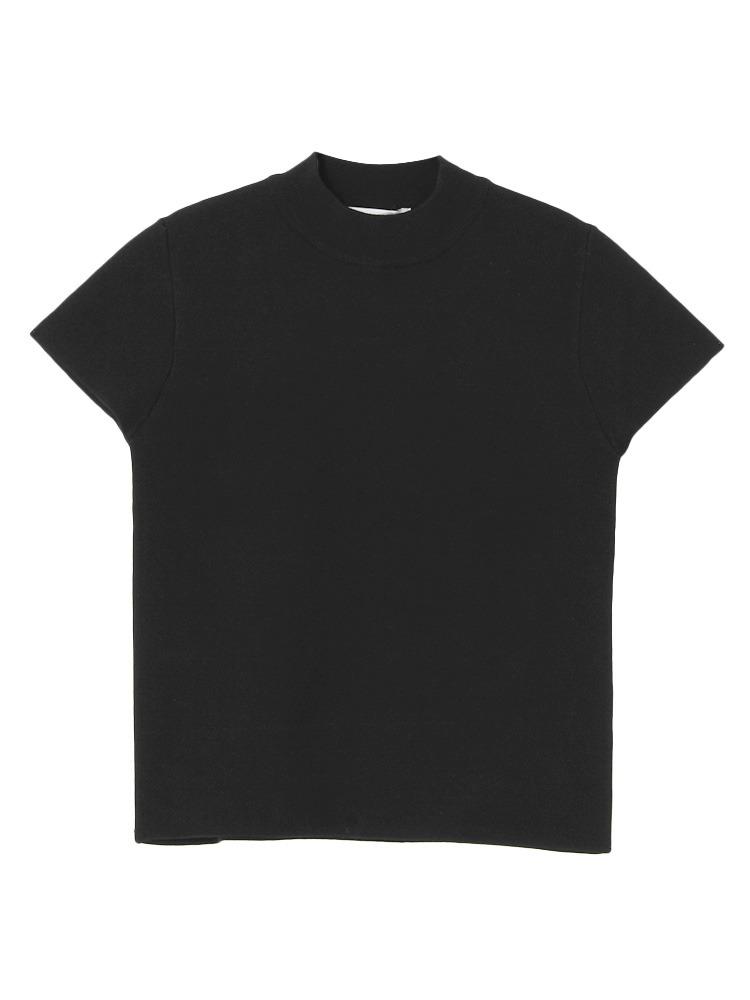 ミラノリブトップス(ブラック-F)