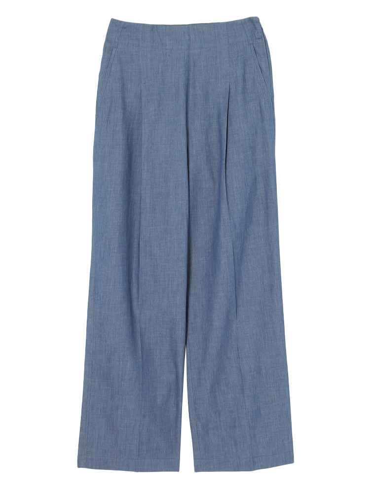 【YUGE】LIGHT DENIM WIDE PANTS(ブルー-36)