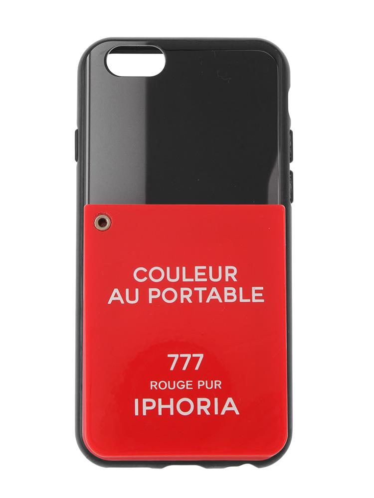 【iPhone 6 / 6s対応】【IPHORIA】COULEUR AU PORTABLE-MIRROR(レッド-F)