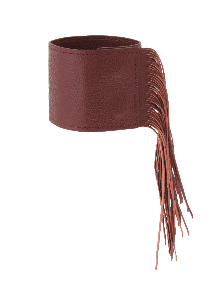 FRINGE LEATHER BANGLE(ボルドー-F)