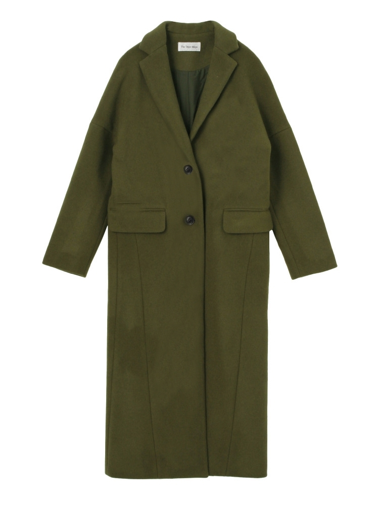 LONG CHESTER COAT(カーキ-36)