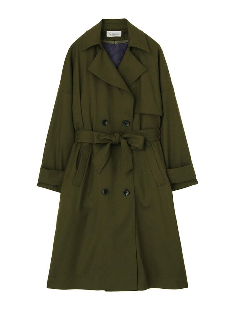 FLANO TRENCH COAT(カーキ-36)