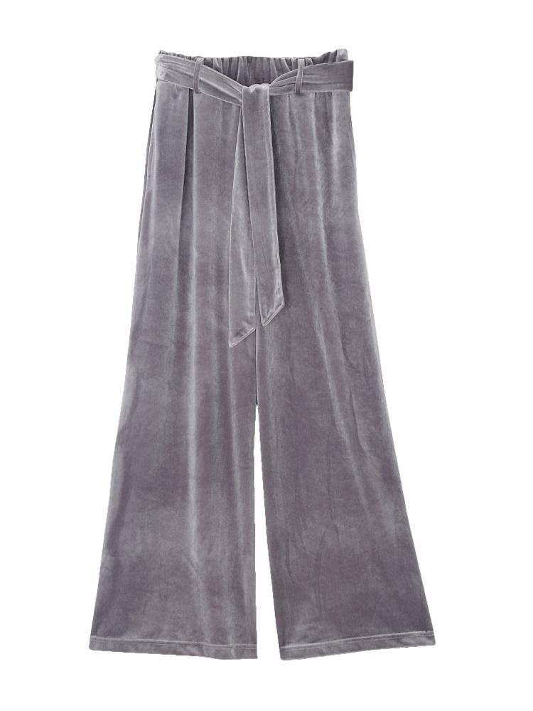 VELOUR PANTS(グレー-F)